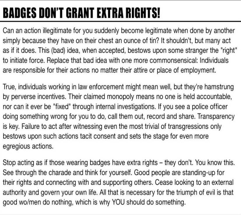 Badges Don\'t Grant Extra Rights
