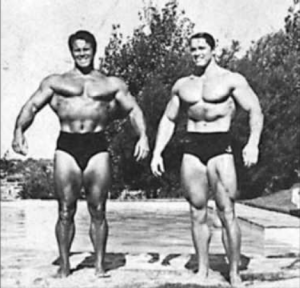 Reg Park and Arnold
